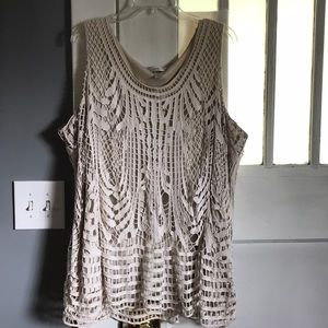 Layered Crochet Tank